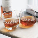 Personalised 'Daddy Since' Whiskey Glass