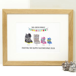 Personalised Ski Boot Family Print
