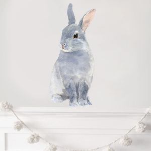 Bunny Wall Sticker, Rabbit Wall Sticker, Bunny Rabbit - living room