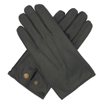 Norton. Men's Warm Lined Leather Glove - Black
