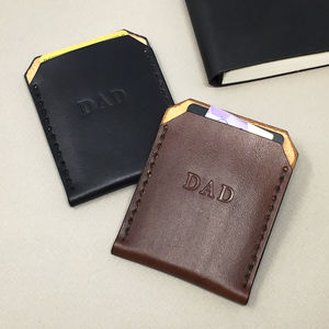 Father's Day 'Dad' Leather Card Holder