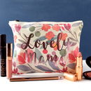 Personalised Floral Printed Make Up Bag