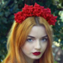 Wild Rose Flower Crown Autumn Winter Colours