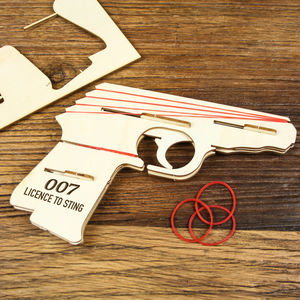 Make Your Own Elastic Band Gun - traditional toys & games