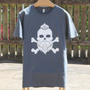 Father's Day Mens Skull T Shirt, Can Be Personalised