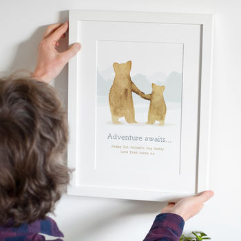 'Father And Child' Bear Print For Father's Day Gift