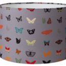 Curious Butterfly Midnight Grey Handmade Lampshade