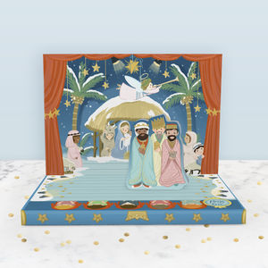 The Little Nativity Christmas Music Box Card - cards