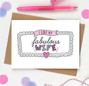 Fabulous Wife Card