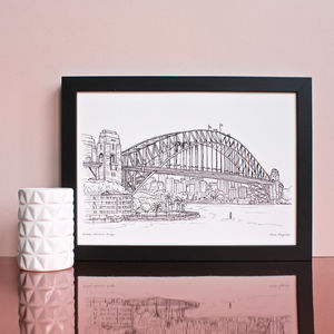 Sydney Harbour Print - architecture & buildings