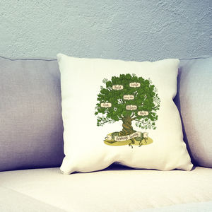 Personalised Family Tree Banner Cushion Cover