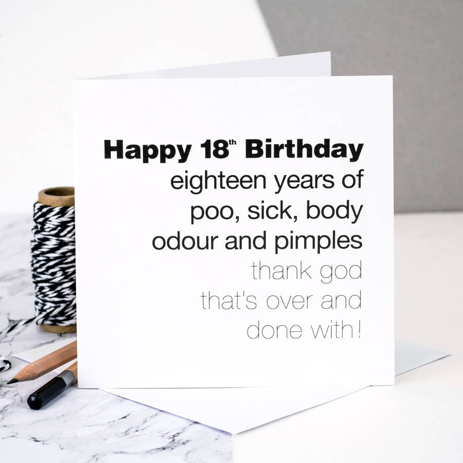 18th Birthday Card 'Eighteen Years Of Poo…'