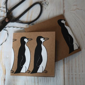 Christmas Card, Penguins - seasonal cards