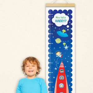 Personalised Space Height Chart - children's room accessories