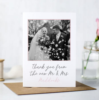 Photographic Wedding Thank You Cards
