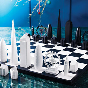 London Skyline Architectural Chess Set - toys & games for adults