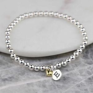 Personalised Mia Gold Heart Bracelet - weddings