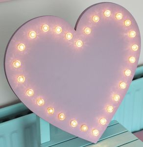 Love Heart LED Marquee Light - baby's room