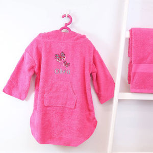 Personalised Girl's Hooded Logo Poncho - towels & bath mats