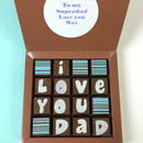 Chocolates With Personalised Message For Dads