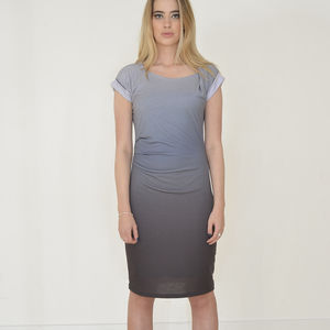 Twilight Dip Dye Pencil Dress