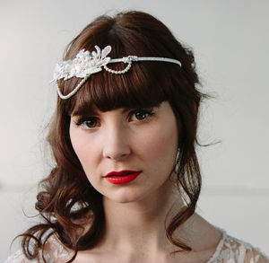 Lori Lace Pearl Chain Bridal Headpiece - whats new