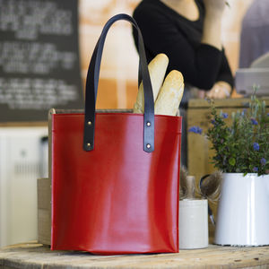 A Leather Tote Bag - shoulder bags