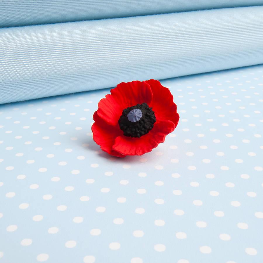 Poppy Lapel Pin By Good Intentions Notonthehighstreet
