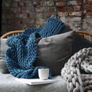 Super Chunky Knitted Blanket