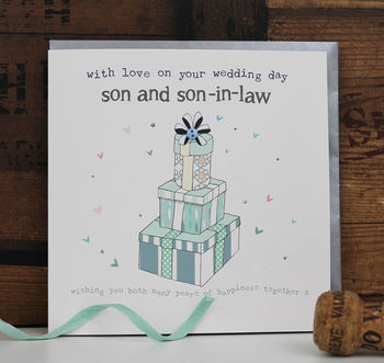 Son And Son In Law Wedding Card