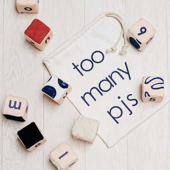 Spot Print Sensory Alphabet Blocks Set Of 10