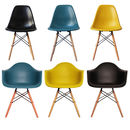 Deep Colour Daw Chairs, Set Of Six, 20+ Colours