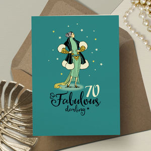 70th Birthday '70th And Fabulous' - birthday cards