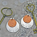 Mr And Mrs Coin Keyring Set