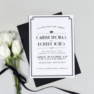 Art Deco Style Estelle Wedding Invitation