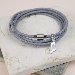 Luxury Plaited Leather Wrap Bracelet