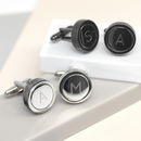 Engraved Initial Cufflinks