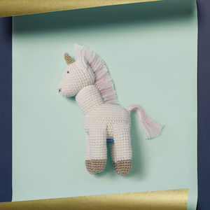 Hand Crocheted Unicorn Soft Toy