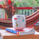 WORLDMUG Trouvaille World Map Colour in Mug. Travel the World Colour the World Mug with countries map and additional ceramic pen set.