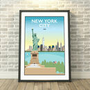 Statue Of Liberty, New York City, USA Dawn/Night Print