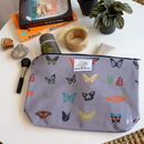 Curious Butterfly Large Toiletry Bag