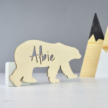 Personalied Polar Bear Name Sign