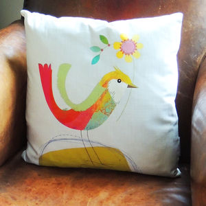 Bird Cushion - bedroom
