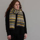Knitted Lambswool Long Fairisle Scarf