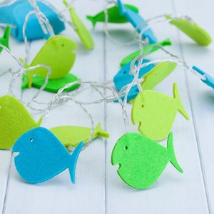 Childs Fish Fairy String Lights - children's room