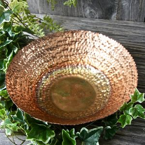 Copper Plated Shallow Bowl - bowls