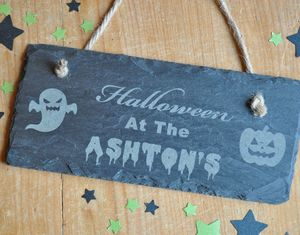Personalised Halloween Sign