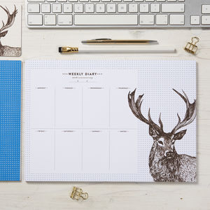 Stag Weekly Planner - gifts for him