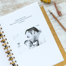 Personalised Number One Dad Notebook
