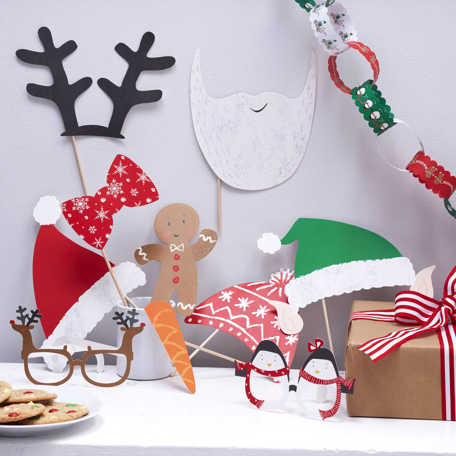 Christmas Family Party Ideas Part - 24: Christmas Family Photo Booth Party Props